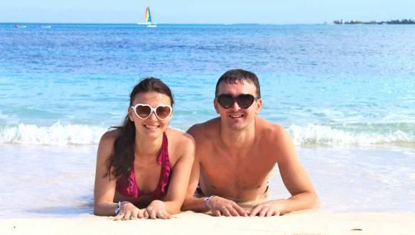 Мы-на-пляже-Багам