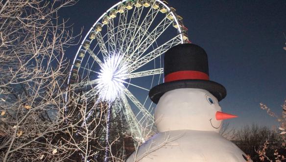 Великобритания-колесо-и-снеговик